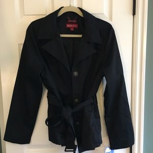 Merina Black trench coat L never worn